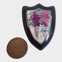 Antique Japanese Satsuma Shield Brooch