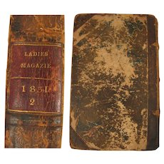 1831 book The Ladies' Pocket Magazine Vol. 2 with 12 Color Fashion Plates - Red Tag Sale Item
