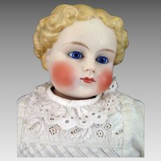 1860s German ABG Parian Bisque Doll with Glass Eyes 22 inches