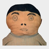 Early 1900s Home Made Folk Art Cloth Doll 19 inches