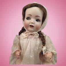 Antique Simon Halbig 1296 Flirty Eye Breather Baby Doll