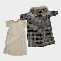 """Antique Factory Dress and Slip for 13"""" Doll"""