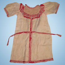 """Antique Factory Dress for Bisque Doll for 22-24"""" Doll"""