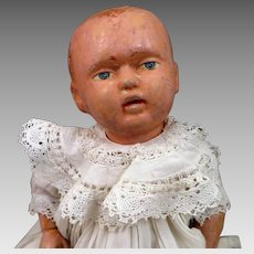 Antique Tout en Bois Jointed Wood Baby Doll 12 inches