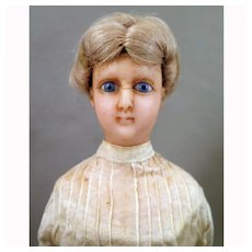 Antique Wax Lady Doll Dressel & Kister 14 inches