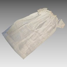 1930s White Cotton Nightgown Dress for 20 inch Doll
