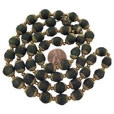 Victorian Rose Petal Bead Necklace 29 inch