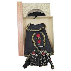 Vintage Matador Costume for 8 inch Doll