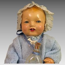 1920s Effanbee Bubbles Composition Doll 14 inches