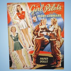 1943 WAFS Girl Pilots Paper Dolls Book