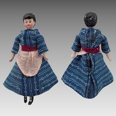 Antique German Bisque Doll House Lady Doll 6 inches