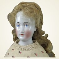 German China Bald Wigged Doll 20 inches c. 1860s to 70s