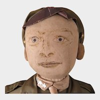 Home Made Cloth WW1 Army Doll 19 inches
