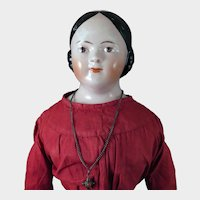 1860s Covered Wagon China Doll 21 inches