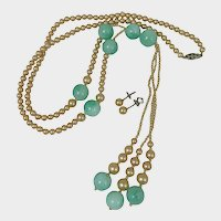 1920s Flapper Necklace and Earring Set