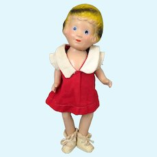 Freundlich Little Orphan Annie Composition Doll 10 inches