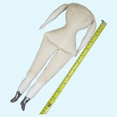 Vintage Replacement Body for Bisque Shoulder Head Doll 13.5 inches