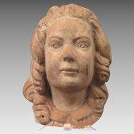 Antique Terra Cotta Bust of a Girl 5 inch