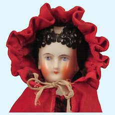 1870s Conta Boehme Rare Hairstyle China Doll Pierced Ears 15 inch