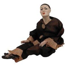 Early 1900s German Pierrot Doll Figure