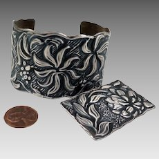 Arts and Crafts Bracelet and Brooch Set