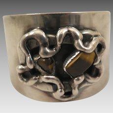 Vintage Jacob Hull B D Brutalist Bracelet Cuff