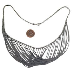 Vintage Sterling Silver Italian Swag Chain Necklace