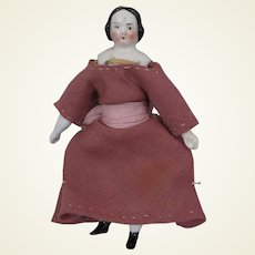 1860s China Doll House Doll 4 inches