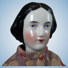 1860s Jenny Lind China Doll 15 inches
