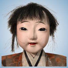Japanese Standing Doll Meiji Era 19 inches