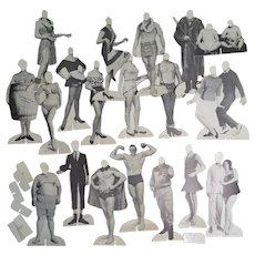 1950s-60s Comedic Paper Doll Stand Ups Set