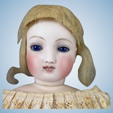 1860s Steiner French Bisque Waltzing Mechanical Doll