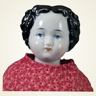 Antique German Flat top China Doll 14.5 inches