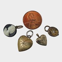 4 Antique Mini Pendants