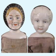 Antique Double Faced China Doll 10.5 inches