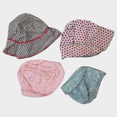 1920s-30s Doll Hats x 4