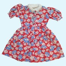 1950s Cotton Print Doll Dress