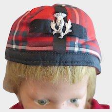 Vintage Scottish Doll Hat