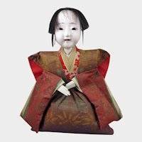 Japanese Seated Gofun Doll 10 inch Taisho Era