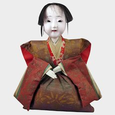 Japanese Seated Gofun Doll 10 inch Taisho Era