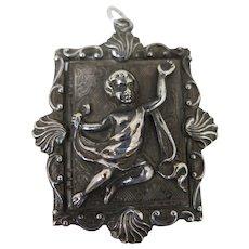 Antique Cherub Memorial Locket Pendant