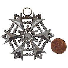 Victorian Cut Steel Pendant