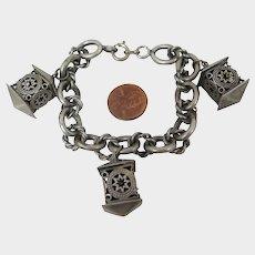 Antique Lanterns Charm Bracelet