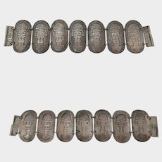 900 Silver Inca Tumi Peru Bracelet