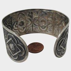 Antique Sterling Silver Bracelet Cuff