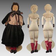 Antique Wood Doll 22 inch