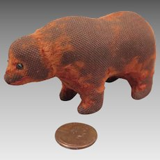 Antique Mini Bear Toy for Doll 3.5 inch