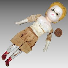 Antique Wax Over Alice Doll 6 inch