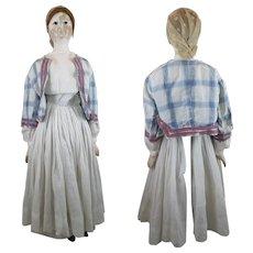 Antique European Wood Doll 26 inches