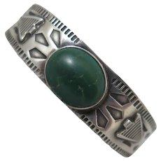 Vintage South Western Sterling Turquoise Bracelet